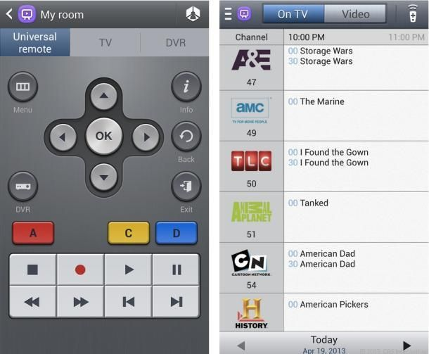 Samsung S4 How To Use Galaxy S4 As Tv Remote Watchon Samsung