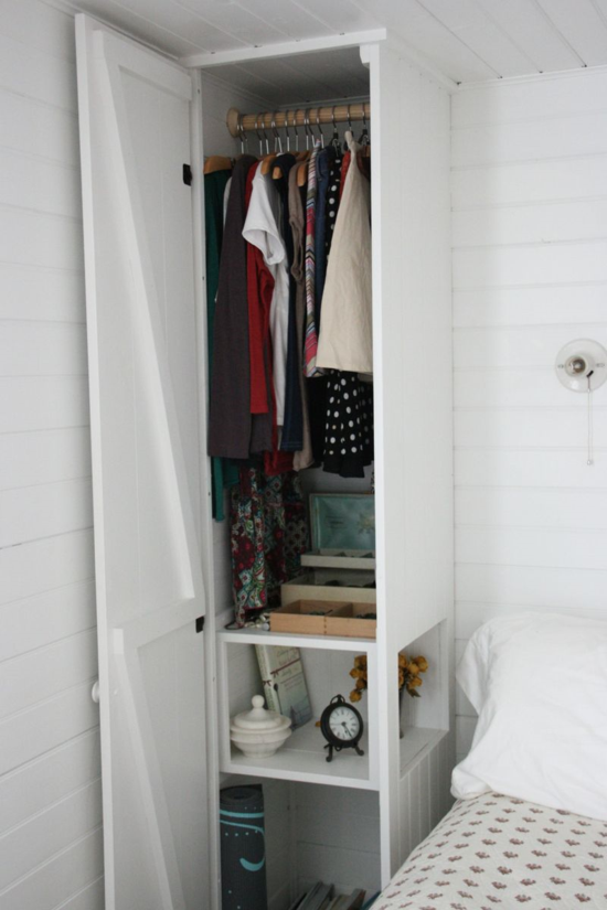 Ideas For Clothing Storage In Small Bedrooms Part - 27: Nightstand U0026 Closet In One. Find This Pin And More On Small Bedroom Ideas  ...