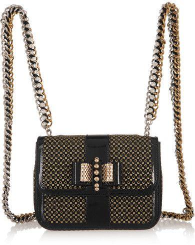 7c12f38ea97 Christian Louboutin - Sweet Charity Mini Patent-leather And Glittered Pvc  Backpack - Black