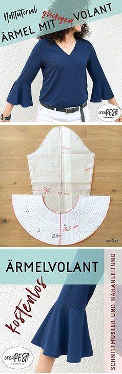 rmel mit volant n hen rmel sewing hacks sewing. Black Bedroom Furniture Sets. Home Design Ideas