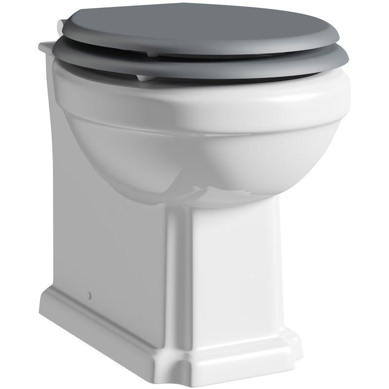 Prime The Bath Co Dulwich Back To Wall Toilet With Stone Grey Creativecarmelina Interior Chair Design Creativecarmelinacom