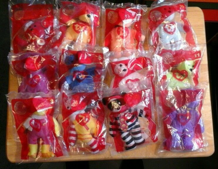 """McDonald's Happy Meal Toys  """"2004"""" 25th Anniversary TY Bears Complete Set of 12 #Ty"""