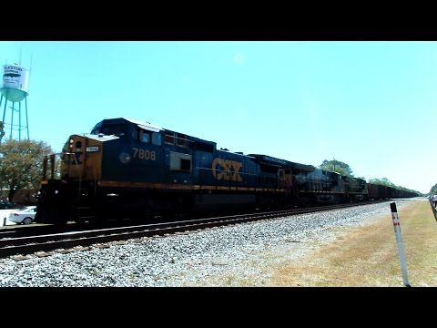 CSX Rock Train Coming And Going - YouTube