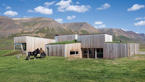 hof house skagafjrur fjord iceland by studio granda - Fjord Solar Home Plans