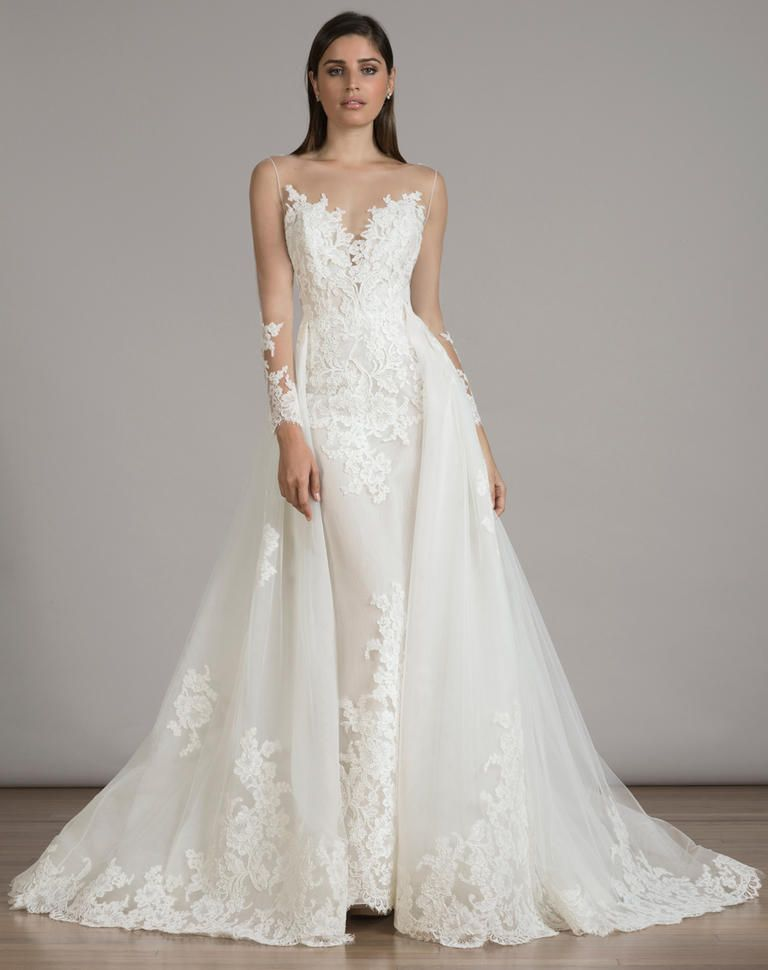 15 Pretty Perfect Overskirt Wedding Dresses
