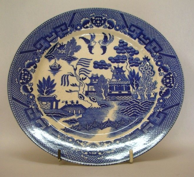 Antique Japanese Plates | Japanese \ Willow\  Pattern Cabinet Plate - Japanese 20th Century . & Antique Japanese Plates | Japanese "|659|600|?|713fc5af36e58912cdbdb251f64bf1e8|False|UNLIKELY|0.3000040054321289