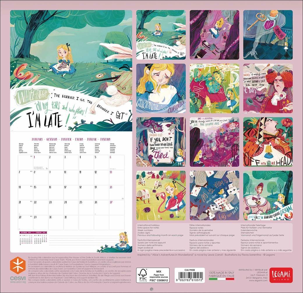 Lewis Carroll Alice In Wonderland Calendar 2021 At Calendar Club In 2020 Alice In Wonderland Artist Calendar Artistic Frame