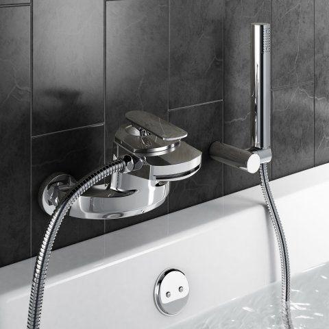 Oshi Waterfall Bath Tap with Hand Held Shower Head | Waterfall bath ...