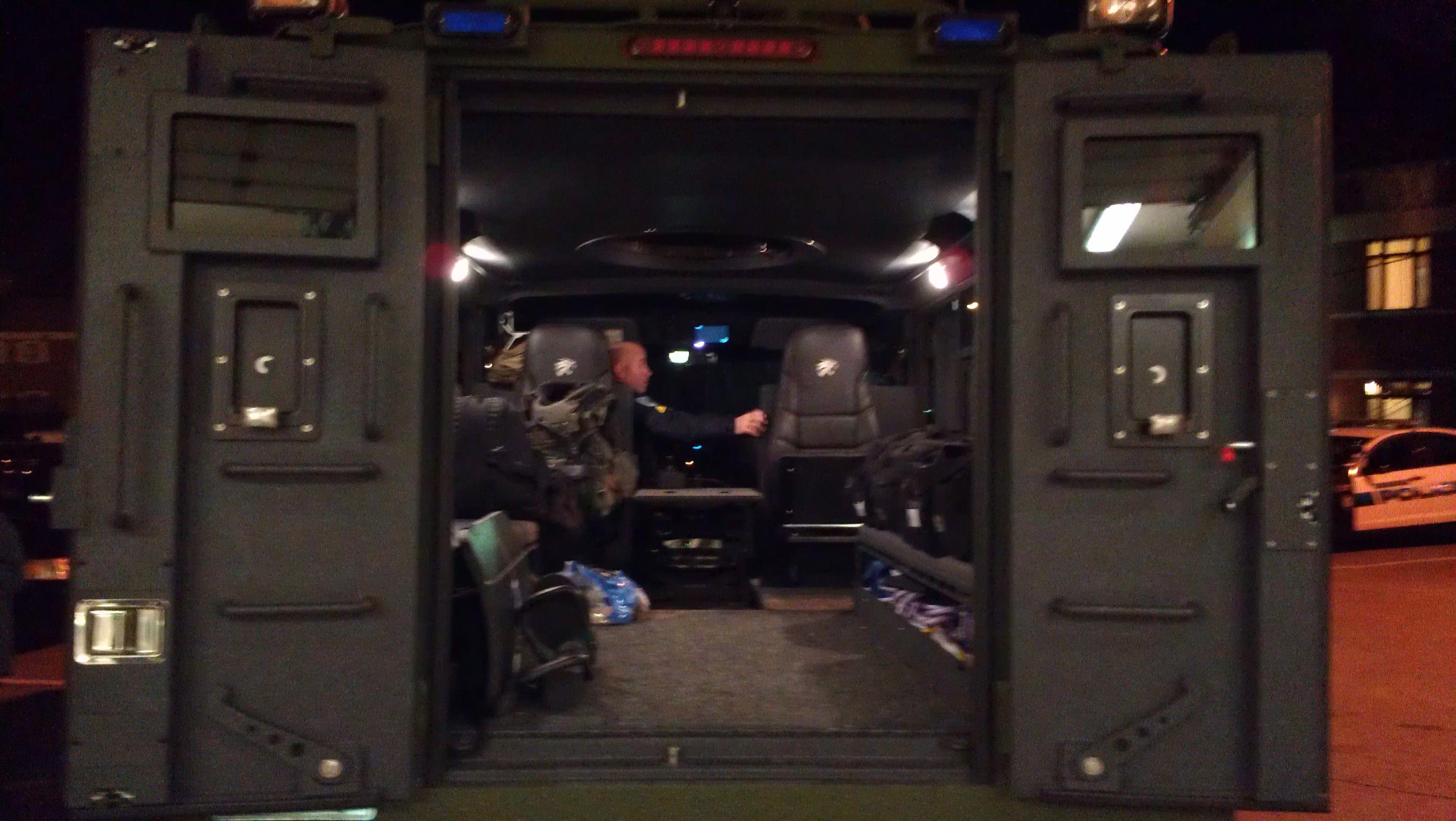 NEMLEC Bearcat looking inside | Citizens Police Academy