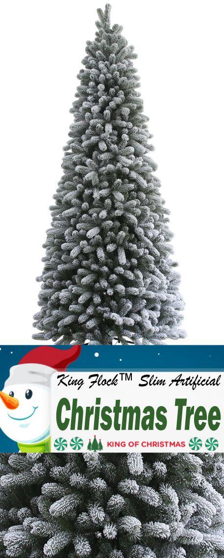 King Flock™ Slim Artificial Christmas Tree   King Of ...