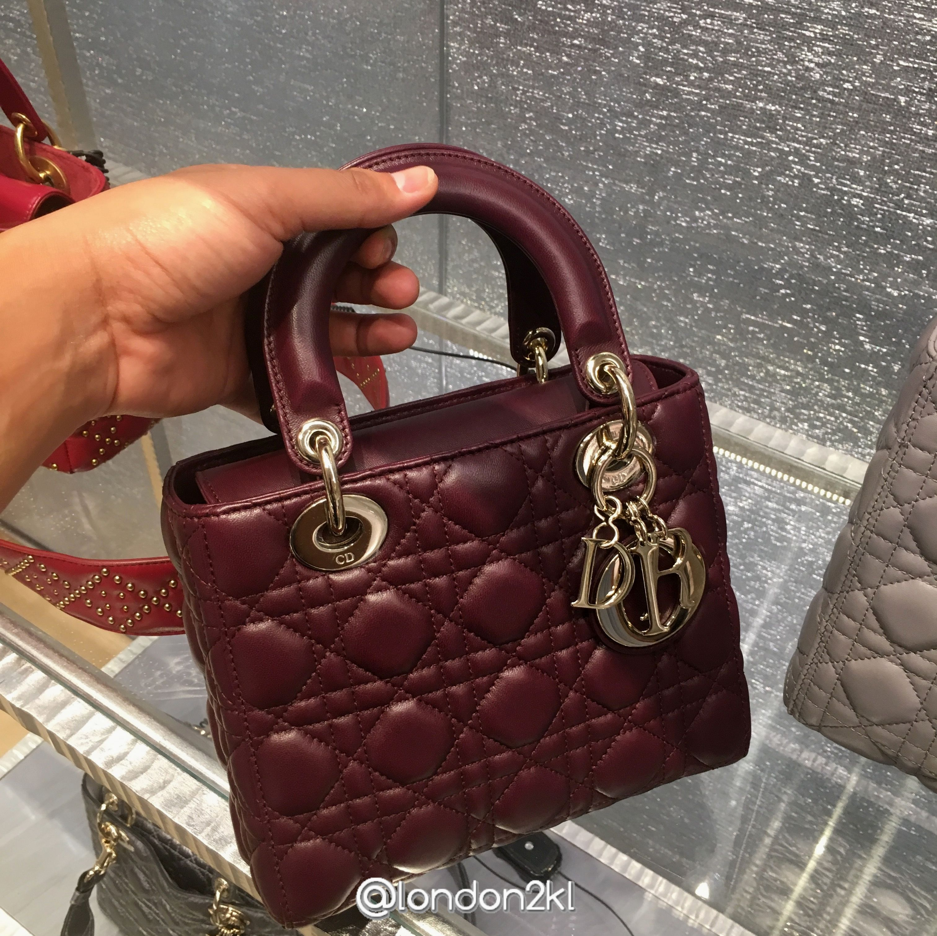 9d0370a25af3 My Lady Dior Bag in Burgundy RM13,750   Christian Dior in 2019 ...