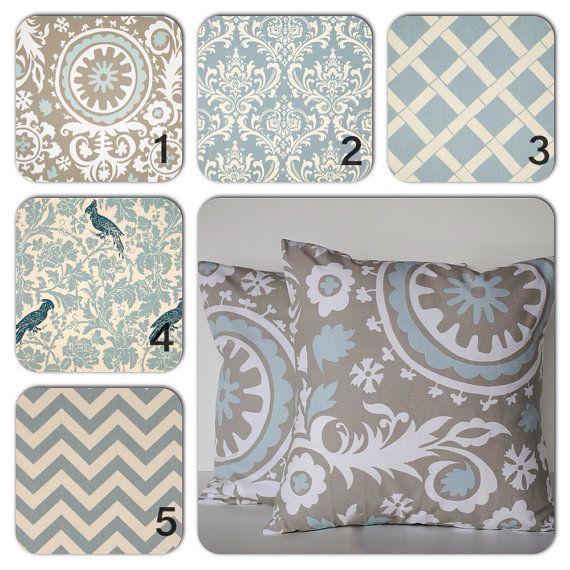Choose any combinaton blue white pillow by ThatDutchGirlPillows, $16.50