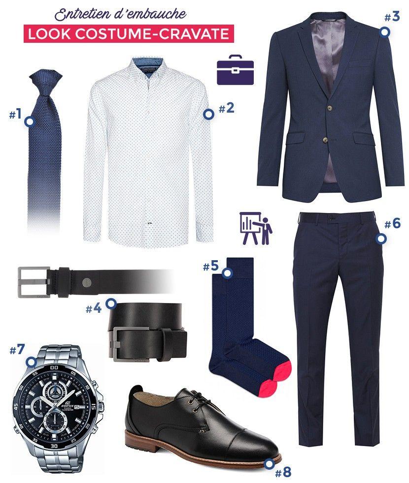 3941e7bf21246 Costume bleu et cravate tricot pour un look spécial entretien d embauche  très formel idéal pour des entreprises comme les banques et assurances.