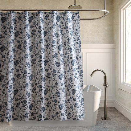 Tommy Bahama Sunkissed Day Fabric Shower Curtain Navy Fabric