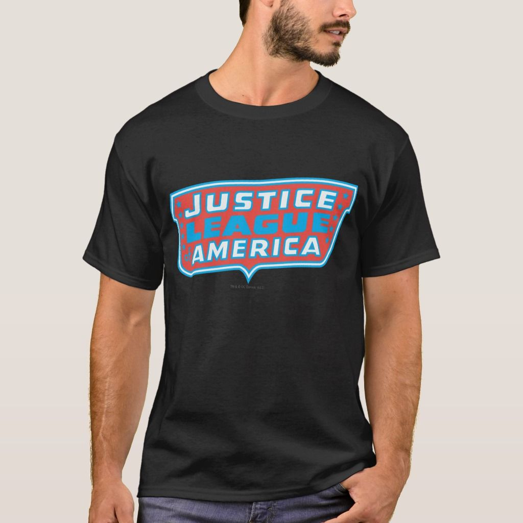 Justice League Of America Logo T Shirt Zazzle Com In 2021 Father S Day T Shirts T Shirt Tshirt Logo