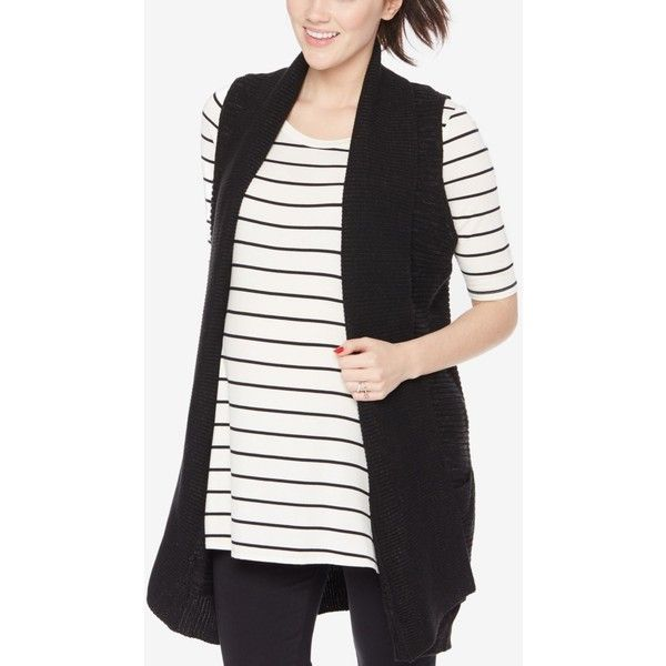 Motherhood Maternity Sweater Vest ($28) ❤ liked on Polyvore ...