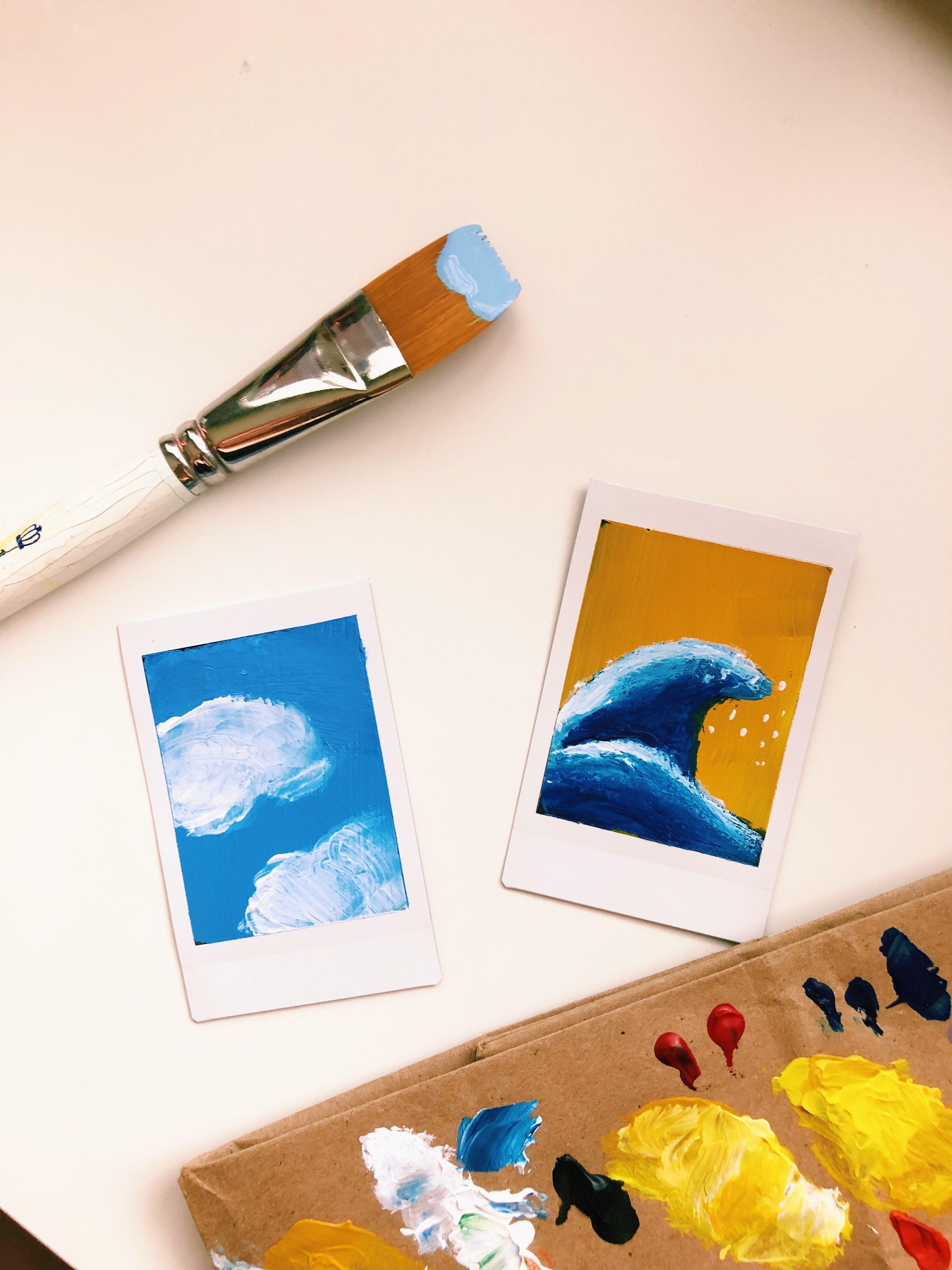 Painting Polaroids Art Trends Vsco Mini Canvas Art Art