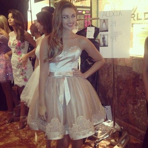 Sadie Robertson at the fashion show for her prom dress line | Sadie ...