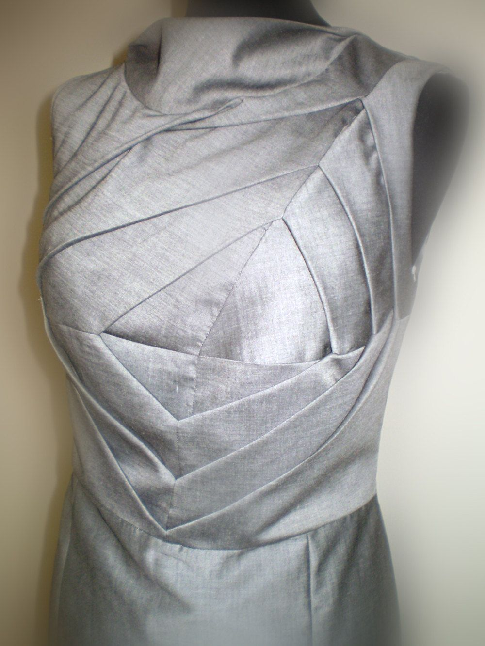 Origami Dress Unusual Shift Art To Wear