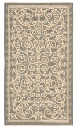 """Safavieh Vaucluse Rectangle 2' X 3'7"""" Outdoor Rug - Gray / Natural"""