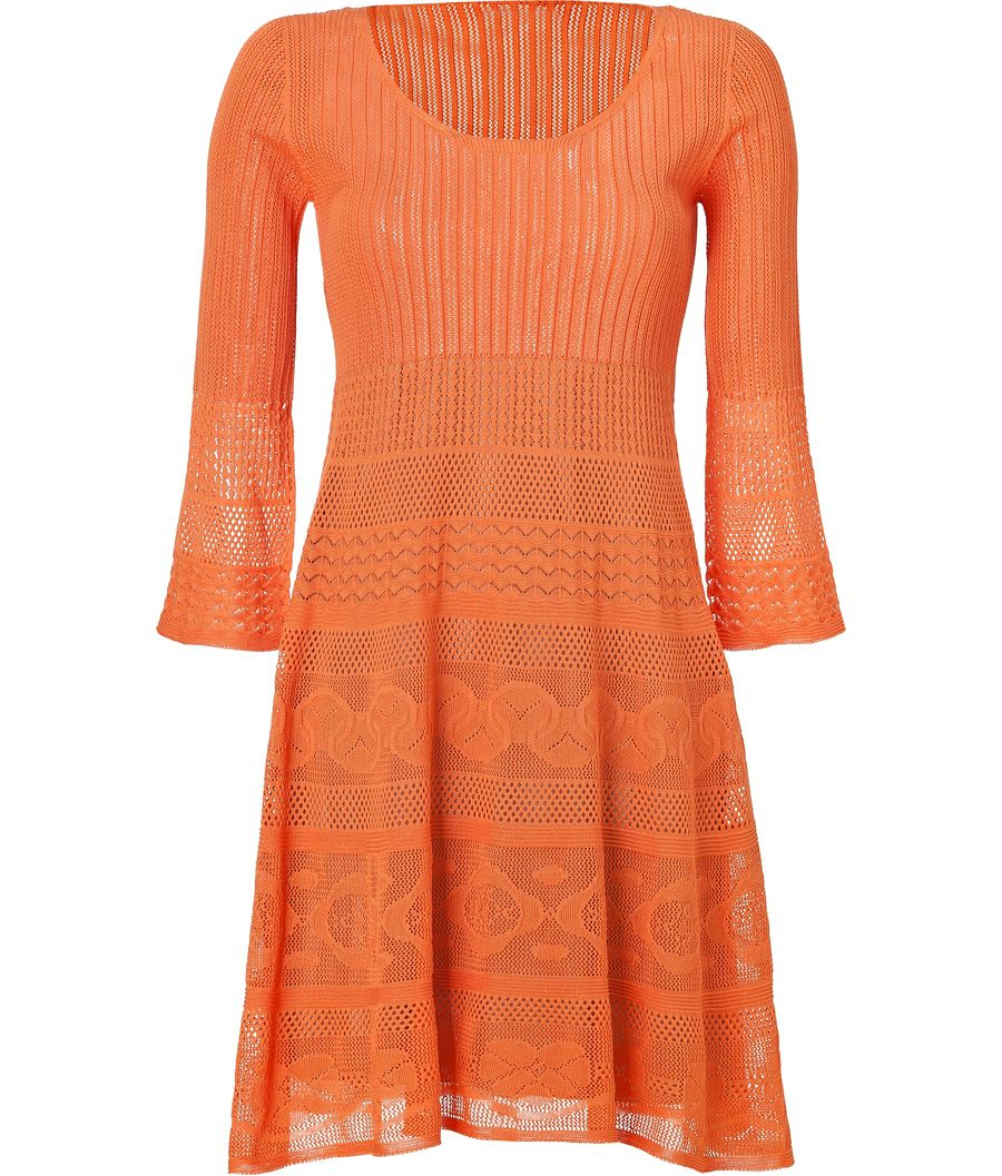 BY   PHILOSOPHY DI ALBERTA FERRETTI  SEE DETAILS HERE: Mandarin Patterned Knit Dress