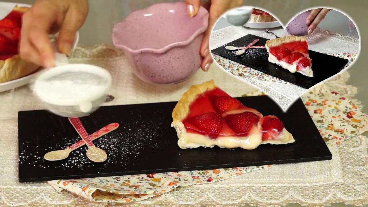 Tarta de fresas y crema pastelera casera y facil paso a paso