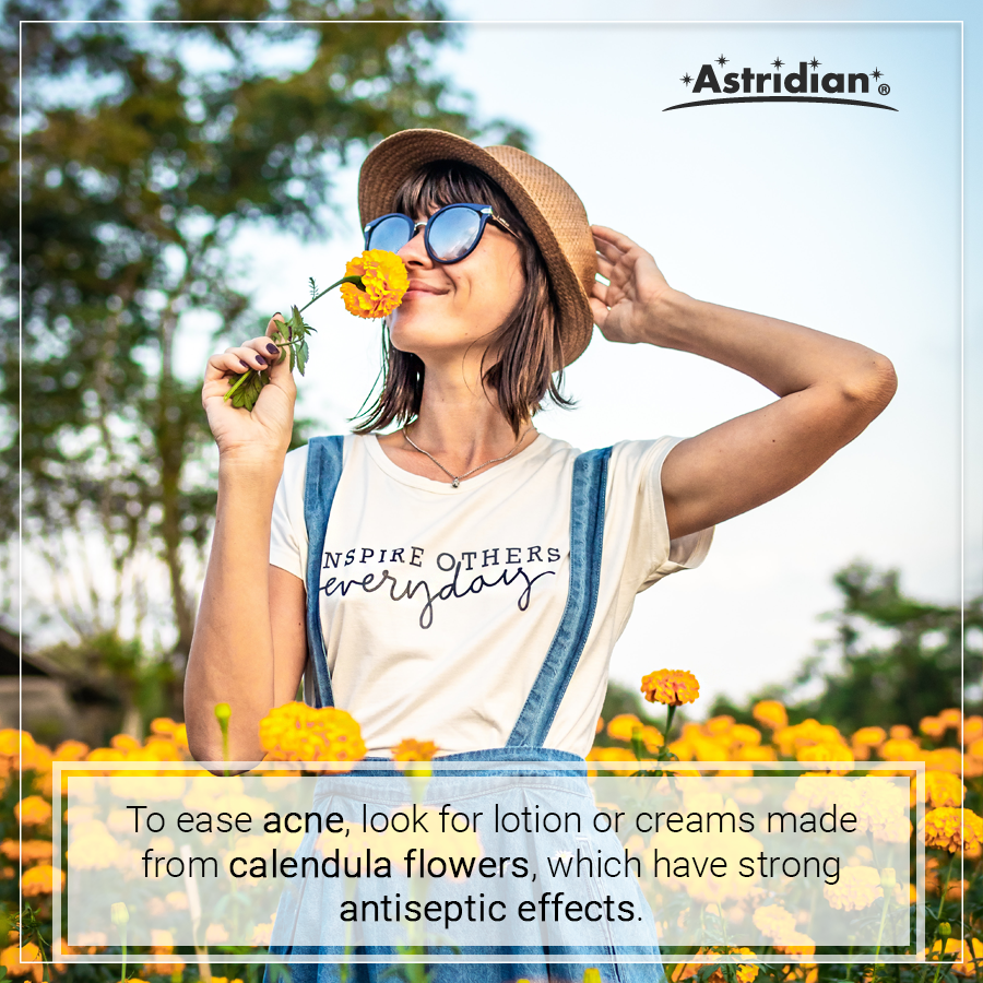 The Calendula Flower has been used for healing for centuries. We harness the power of this plant in two of our lotions!  #thepowerofplants #marigold #calendula #skincare #healthcare #selfcare #astridian