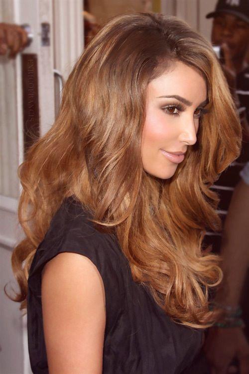 Kim Kardashian with brown hair ❤