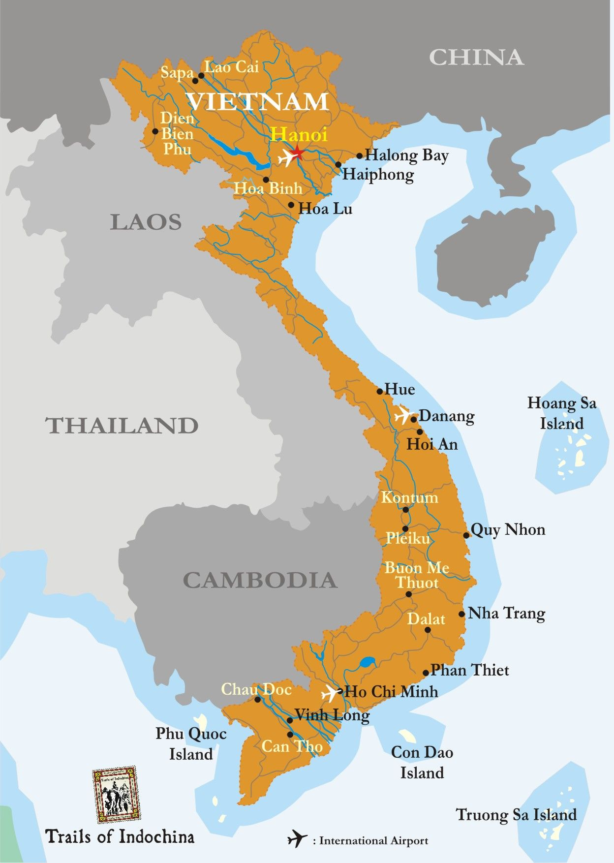 Vietnam Map - Trails of Indochina in 2019 | Vietnam map ... on sumatra map, taiwan map, manchuria map, south america map, malay peninsula map, cambodia map, vietnam map, indonesia map, malay archipelago map, west africa map, irrawaddy river map, philippines map, ottoman empire map, indian ocean map, world map, china map, burma map, java map, thailand map, asia map,