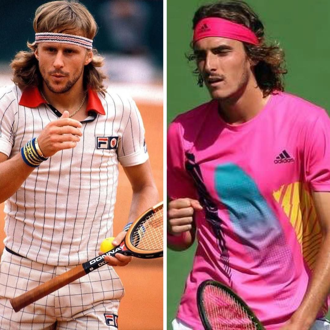 Tsitsipas And Borg Look A Like Tennis Team Tennis Open Tennis Players