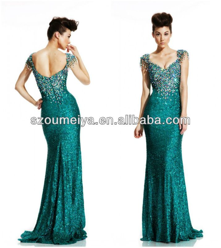 Find More Prom Dresses Information about OEP795 Crystal Beaded Cap ...