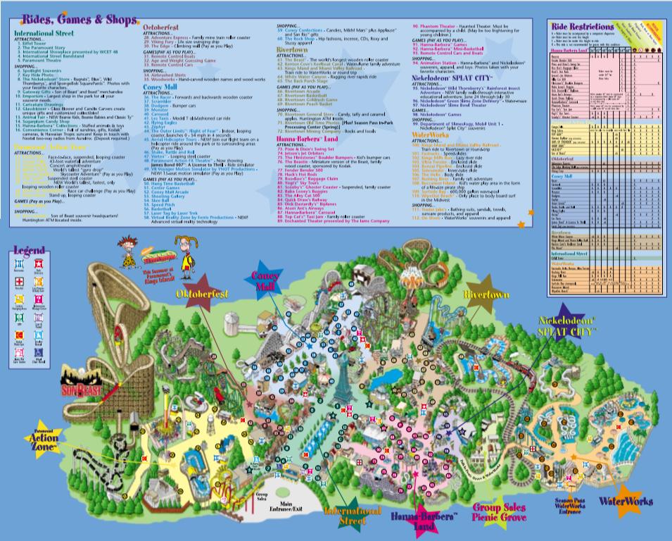2001 Kings Island Map Kings Island Island Map Island