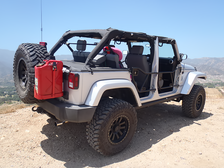 Jeep Wrangler Jk 2007 Present How To Make Your Own Jerry Can Mount