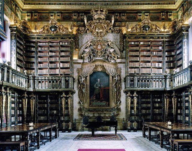 Joanina Library University Of Coimbra Portugal Fotos De Bibliotecas Arquitectura Biblioteca Biblioteca De Ensueño