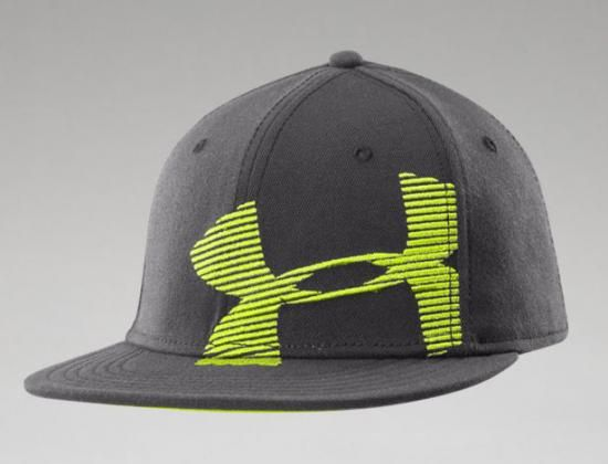 UA Cropped Logo Graphite Fitted Baseball Cap by UNDER ARMOUR ... f4e18fbac95