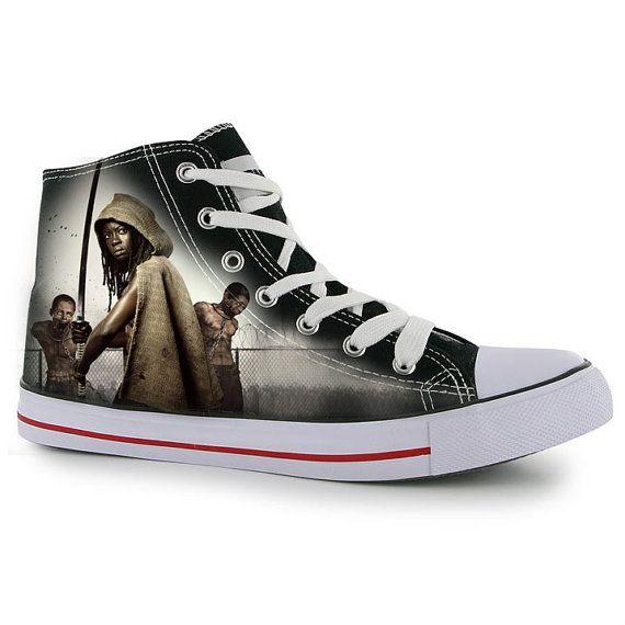b61ed796e95 Custom Hand painted adult shoes The Walking Dead by BeressyArt ...