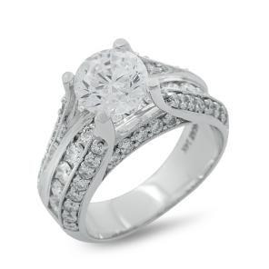 Malakan Jewelry White Gold SemiMount Diamond Engagement Ring