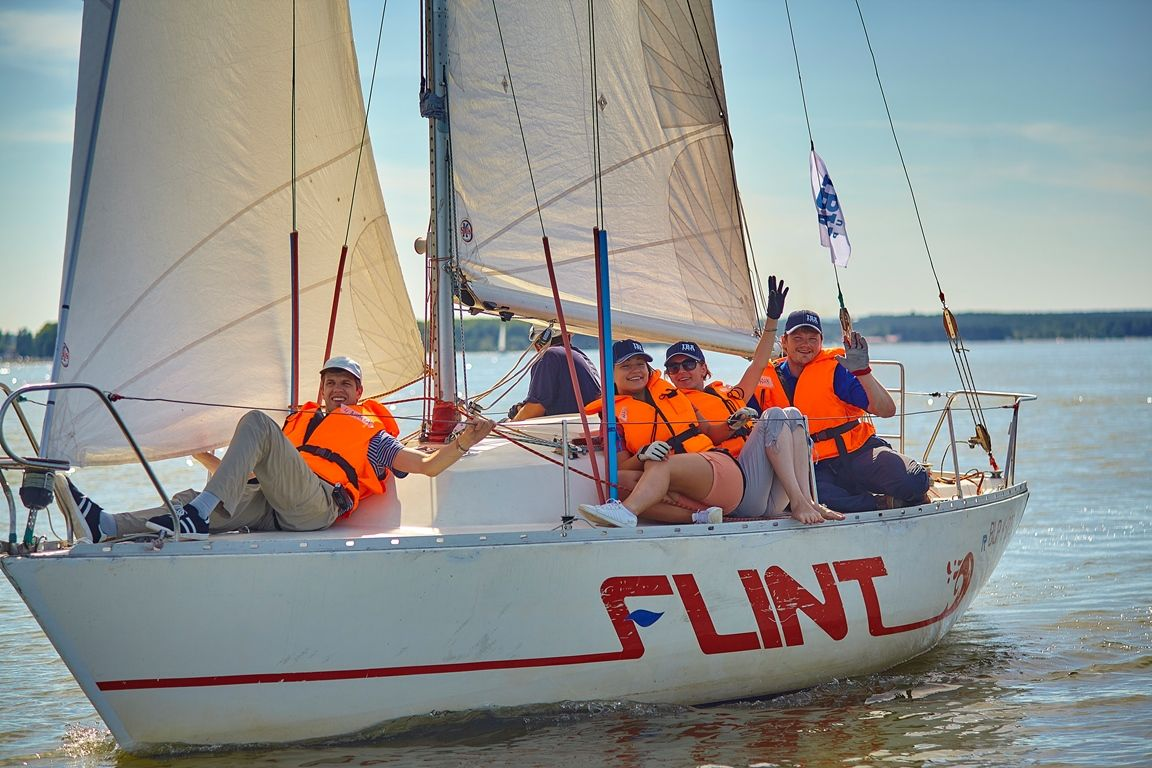 On August 15 Iba Group Organized A Regatta At The Minsk Sea For The Members Of The Internet Technology Division Training Courses Internet Technology Regatta