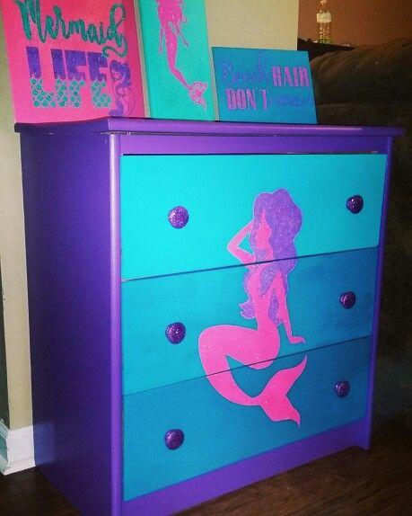 Mermaid Dresser Mermaid Room Decor Mermaid Room Mermaid Bedroom