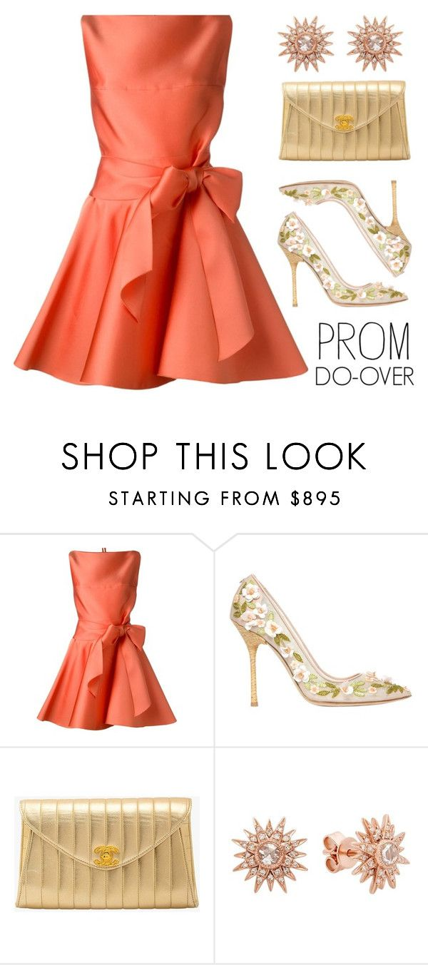 """""""Prom Do-Over"""" by lgb321 ❤ liked on Polyvore featuring Lanvin, Dsquared2, Chanel, fashionset and promdoover"""