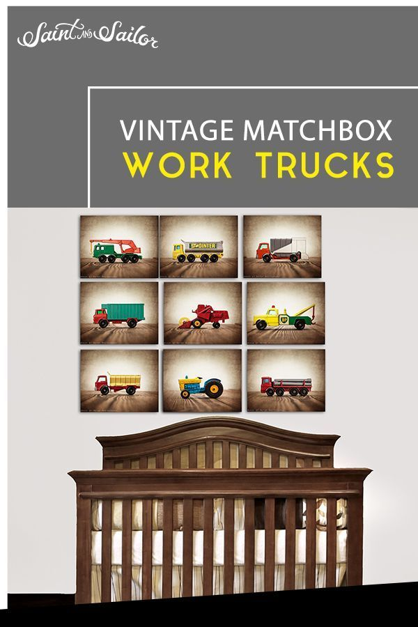 Vintage Matchbox Work Trucks, Satz von neun gestreckten Leinwanddrucken -  VINTAGE MATCHBOX WORK TRUCKS, SET NEUN GESTREIFTER LEINWANDDRUCK! Innenarchitektur Stile, Innenarch - #Beadwork #DecoratingIdeas #Furniture #gestreckten #leinwanddrucken #matchbox #ModernInteriorDesign #neun #Satz #ToolStorage #trucks #vintage #von #Work