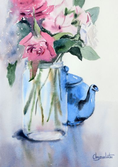 340 Best A Vase Of Flowers As Watercolor Paintings Easy Floral