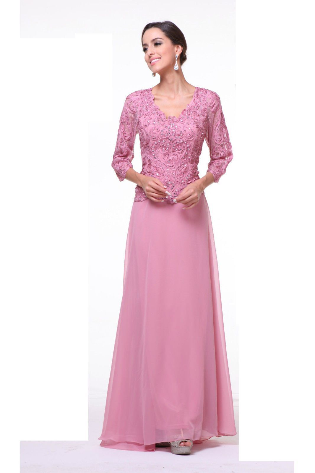 Long Mother of the Bride Hijab Gown Formal Dress Plus Size | Dresses ...