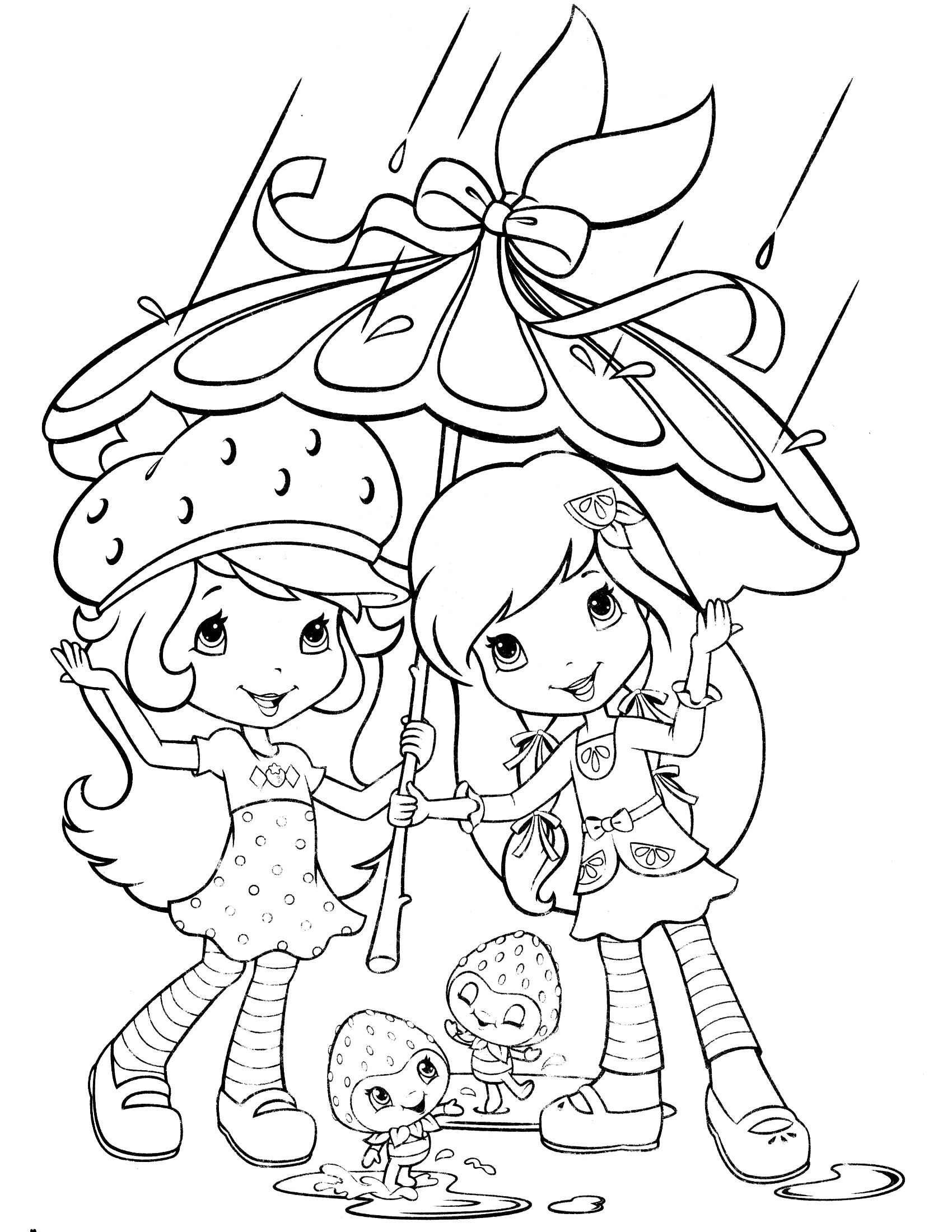 strawberry shortcake coloring page | Para colorear | Pinterest ...