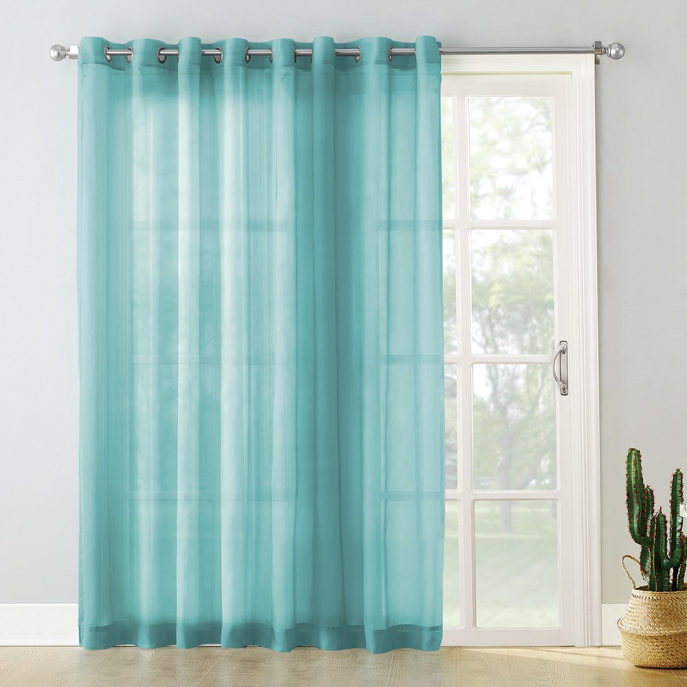 No No Panel Emily ExtraWide Sheer Voile Patio Curtain in