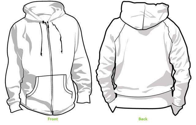 Collection of blank t shirt mockup templates fashion illustrations hoodie template v2 eps d pdf maxwellsz