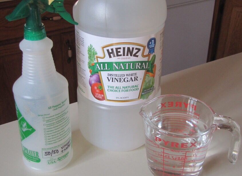 vinegar to water ratio for cleaning