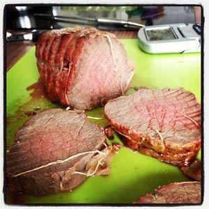 Comment cuire un r ti de boeuf porc cuisson parfaite au four prise de temp rature coeur - Cuisiner un roti de boeuf au four ...