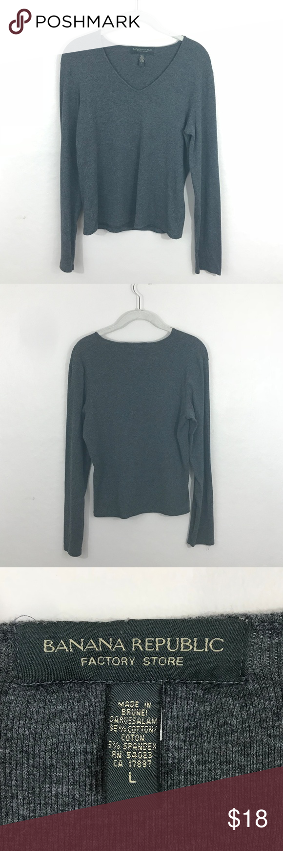 Banana Republic Factory Store Sweater Grey sweater, plain