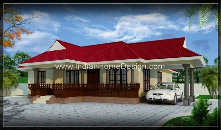 3d single floor home design from sunil malayalam home designer
